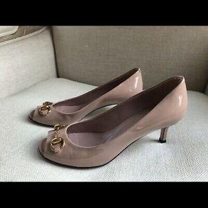 Gucci Pumps Horsebit Pink Patent Heels Jolene 6 36
